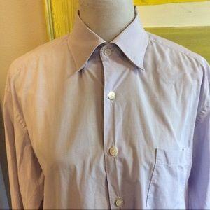 Ermenegildo Zegna L dress shirt lavender plaid